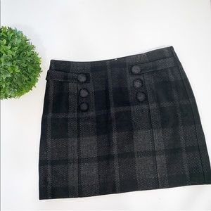 J.Crew Black & Gray Wool Skirt (4)
